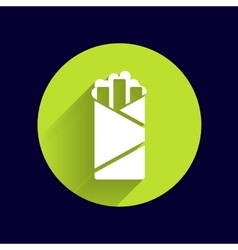 Shawarma design template logo food roll vector