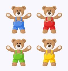 Teddy bears with pants vector