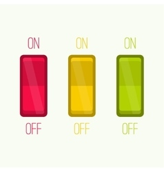 Wall Switch on off position vector image vector image