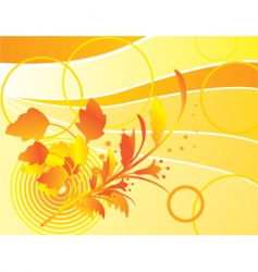 yellow background with autumn bouquet vector image vector image