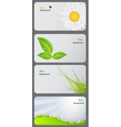 Set of nature gift cards vector