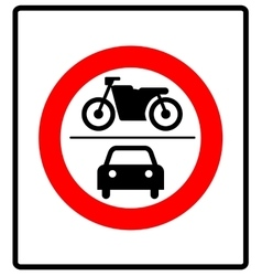 No motor vehicles sign in vector