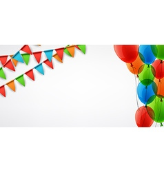 Background with flags and balloons vector