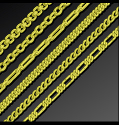 Collection of chains vector