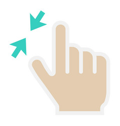 2 finger zoom out flat icon touch and gesture vector image
