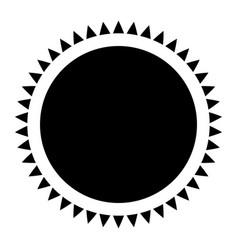Label frame emblem decoration pictogram vector