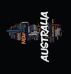Golden australia text background word cloud vector