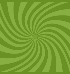 Geometric swirl background - design from green vector
