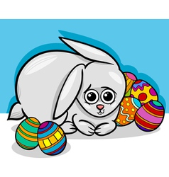Easter bunny cartoon vector