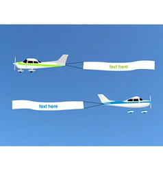 Airplane banner vector