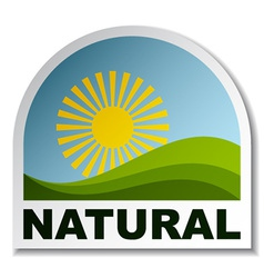 Natural landscape sticker vector