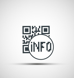 icons qr code vector image