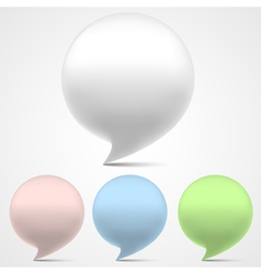 3d speech bubbles set vector image