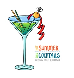 Cocktails one cartoon 12 vector