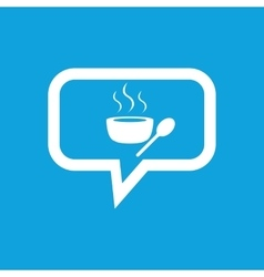 Hot soup message icon vector