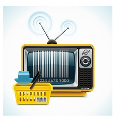tv shop xxl icon vector