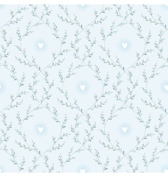 Spring pattern blue vector