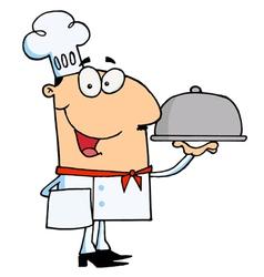 Happy Chef Man vector image