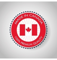 Canadas county design maple leaf icon seal stamp vector