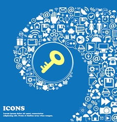 Key icon nice set of beautiful icons twisted vector
