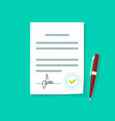 agreement document icon legal paper sheet vector image vector image