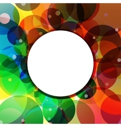 Background circle rainbow jungle vector