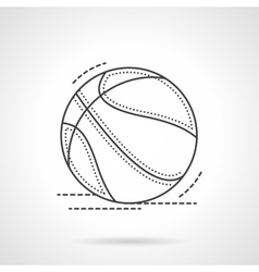Black flat line basketball ball icon vector