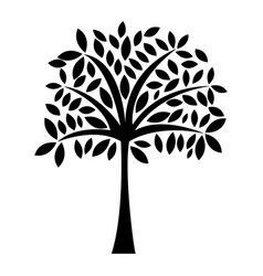 Black icon tree cartoon vector