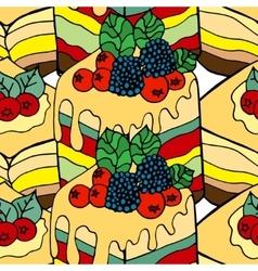 Cake background vector