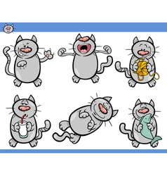 Cats set cartoon vector