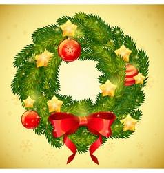 Christmas festive decorative wreath vector image