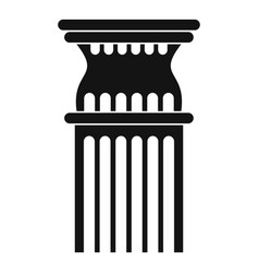 Column icon simple style vector