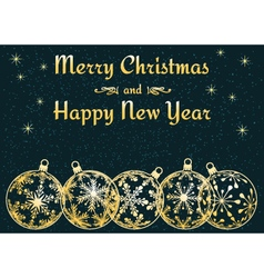 dark Christmas and New Year background vector image