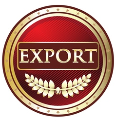 Export Red Label vector image vector image