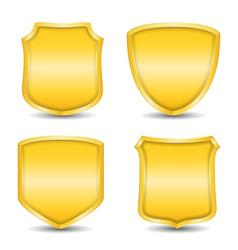 Golden Shields vector image vector image