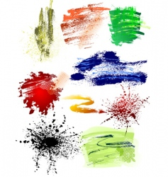 grunge brushes pack vector image