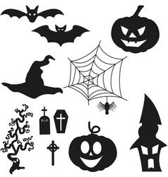 Halloween Silhouetten - Set vector image vector image