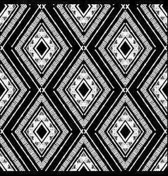 Hand drawn black rhombus pattern vector