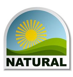 Natural landscape sticker vector