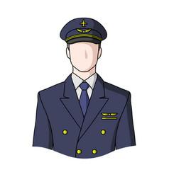 pilotprofessions single icon in cartoon style vector image