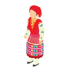 portuguese woman icon isometric style vector image vector image