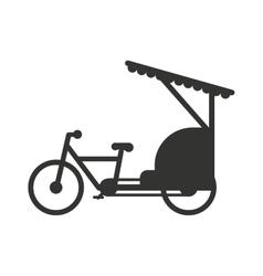 Rickshaw indonesia jakarta taxi travel vector
