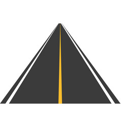 road street with asphalt highway way for vector image vector image