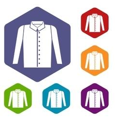 Shirt icons set vector image vector image