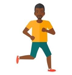 Sportive man jogging vector image