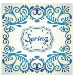 Spring vintage card vector image vector image