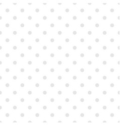 Tile pattern with grey polka dots on white vector