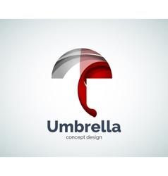 Umbrella logo template vector