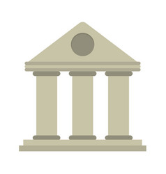 university building style temple vector image