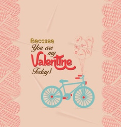 Valentine day greeting card retro vector